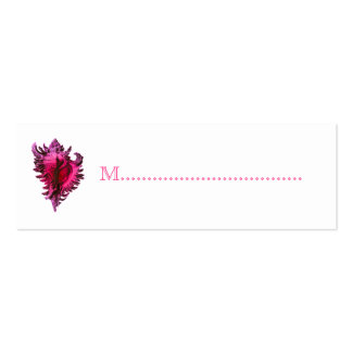 Pink Sea Shell Reception Table Seating Cards Pack Of Skinny Business Cards