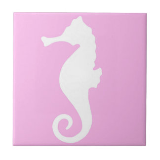 Pink Seahorse Tile