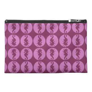 Pink Seahorses Travel Accessory Bags