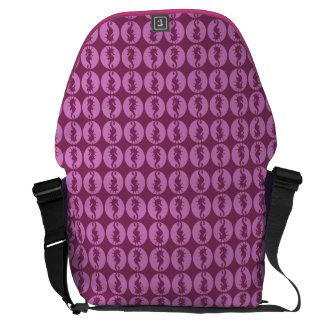 Pink Seahorses Messenger Bags