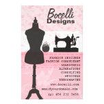 Pink Seamstress Fashion 14 Cm X 21.5 Cm Flyer