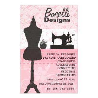 Pink Seamstress Fashion Flyer Design