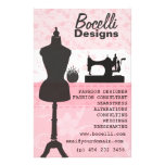 Pink Seamstress Fashion Personalised Flyer