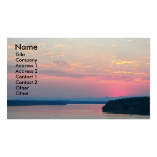Pink Seascape Nature Business Card