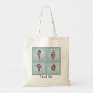 Pink Seashell Quartet Tidal Life Tote Bag