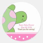 Pink Seaturtle SEA TURTLE Favour Sticker