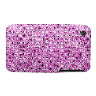 Pink Sequin Effect Phone Cases Case-Mate iPhone 3 Cases