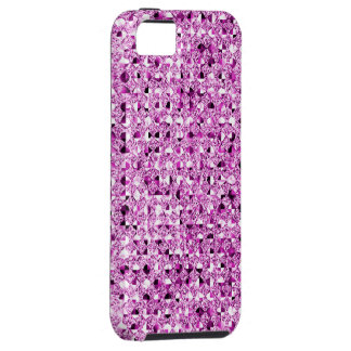 Pink Sequin Effect Phone Cases iPhone 5 Cover