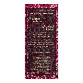 Pink Sequin, Glitter and Diamond Look Customised Rack Card