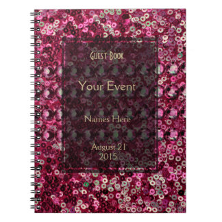 Pink Sequin, Glitter and Diamond Look Note Books