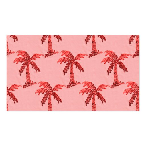 Pink Sequin Grunge Palm Tree Image Business Card