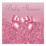Pink Sequins, Bow & Diamond Baby Shower