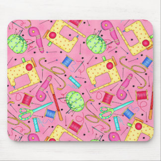Pink Sewing Notions Mousepad