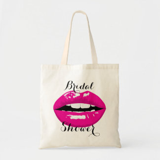 pink sexy lips tote bag
