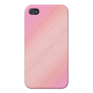 Pink shaded thin stripes iPhone 4/4S cover