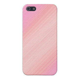 Pink shaded thin stripes iPhone 5/5S case