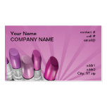 pink shades lipstick business card template