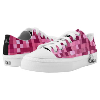 Pink Shades Square Pattern Printed Shoes