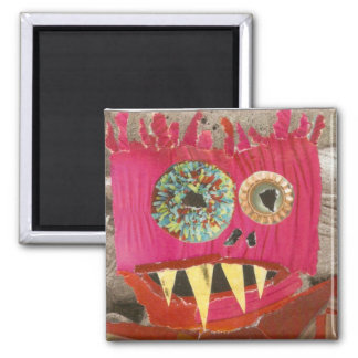 Pink Shaggle Square Magnet