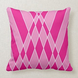 Pink Shapes Abstract Design Cushion