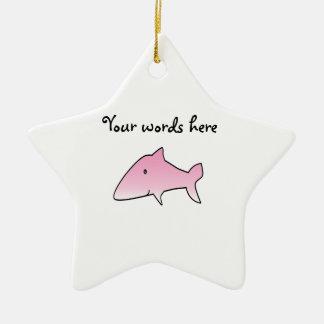 Pink shark christmas ornament