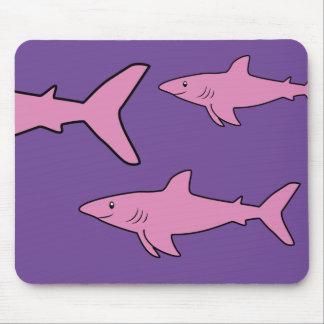 Pink Sharks Mouse Mat