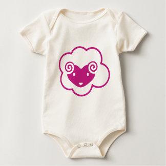 PINK SHEEP BABY BODYSUIT