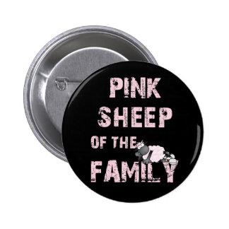 Pink Sheep Black Button
