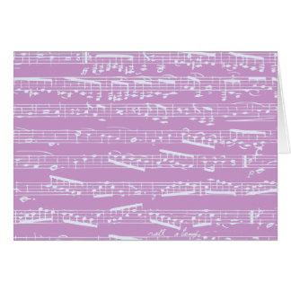 Pink Sheet Music Greeting Card