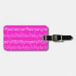 Pink Sheet Music Luggage Tag