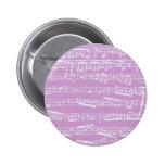 Pink Sheet Music Pin