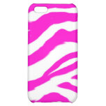 Pink Shel Zebra Pattern Case For iPhone 5C