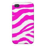 Pink Shel Zebra Pattern iPhone 4 Cases
