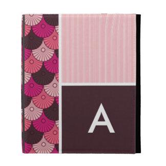 Pink Shells; Japanese Shell Design iPad Folio Cases