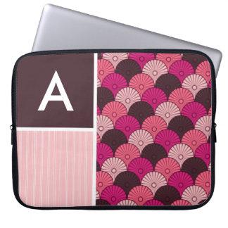 Pink Shells; Japanese Shell Design Laptop Sleeve