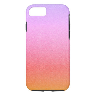 Pink Sherbet Glitter Sand Visual Texture Ombre iPhone 8/7 Case