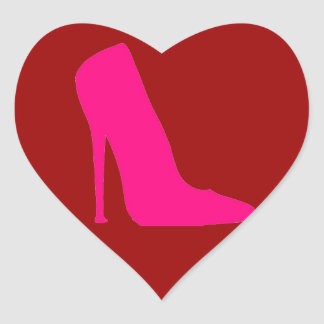 PINK SHOE HEART STICKER