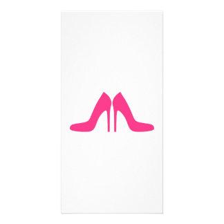Pink Shoe Pumps Custom Photo Card