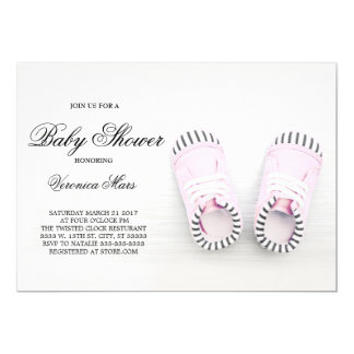 Pink Shoes baby shower invitation