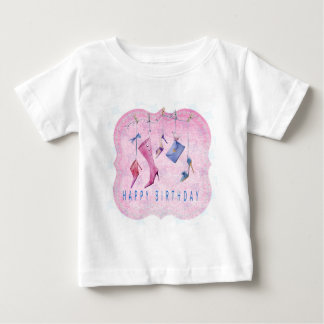 Pink Shoes Happy Birthday Baby T-Shirt
