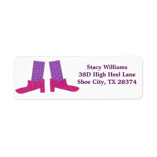 Pink Shoes Labels