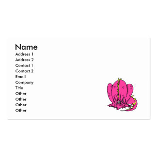 Pink Shy Dragon Business Card