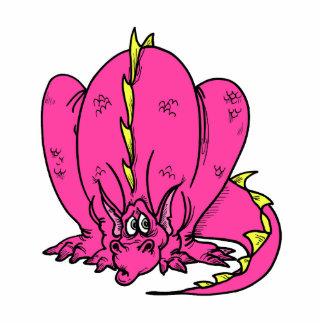 Pink Shy Dragon Cut Outs