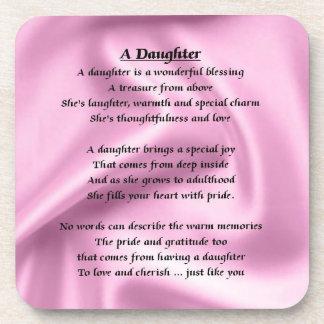 Pink Silk Design - Daughter Poem Coaster