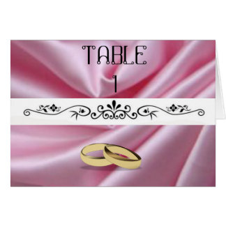 Pink Silk With Wedding Rings Card