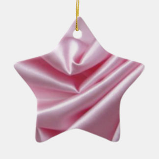 Pink Silk With Wedding Rings Ceramic Star Decoration