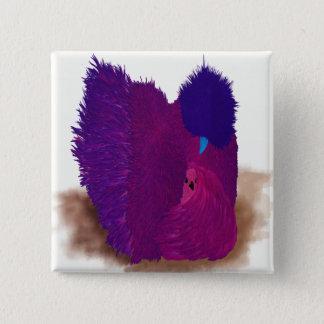 Pink Silkie 15 Cm Square Badge