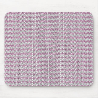 Pink Silver Diamond Studed Gems Mousepads