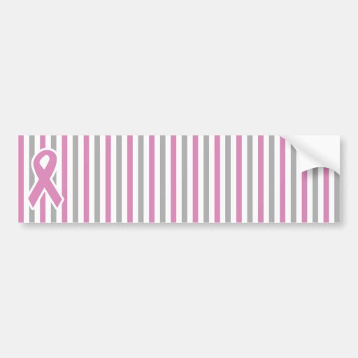 Pink & Silver Stripes custom bumpersticker Bumper Stickers