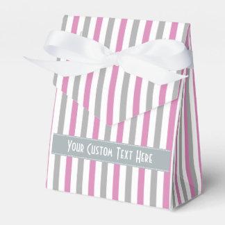 Pink & Silver Stripes custom favor boxes Party Favour Box